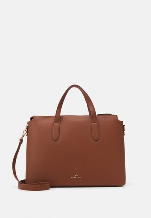 Laptop bag - cognac