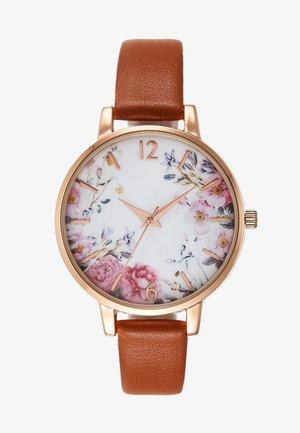 Horloge - cognac