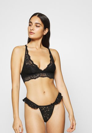 3 PACK - Triangle bra - burgundy/nude/black