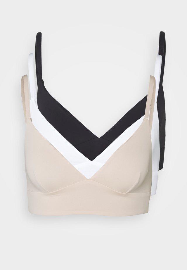 3 PACK - T-shirt-bh - black/white/nude