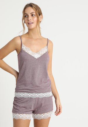 Pyjama set - white/bordeaux