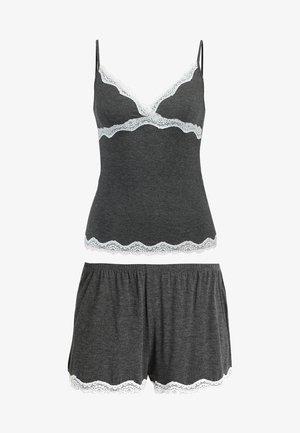 SET - Nachtwäsche Set - grey/white