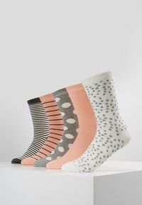 Anna Field - 5 PACK - Sokker - pink/grey/white - 0