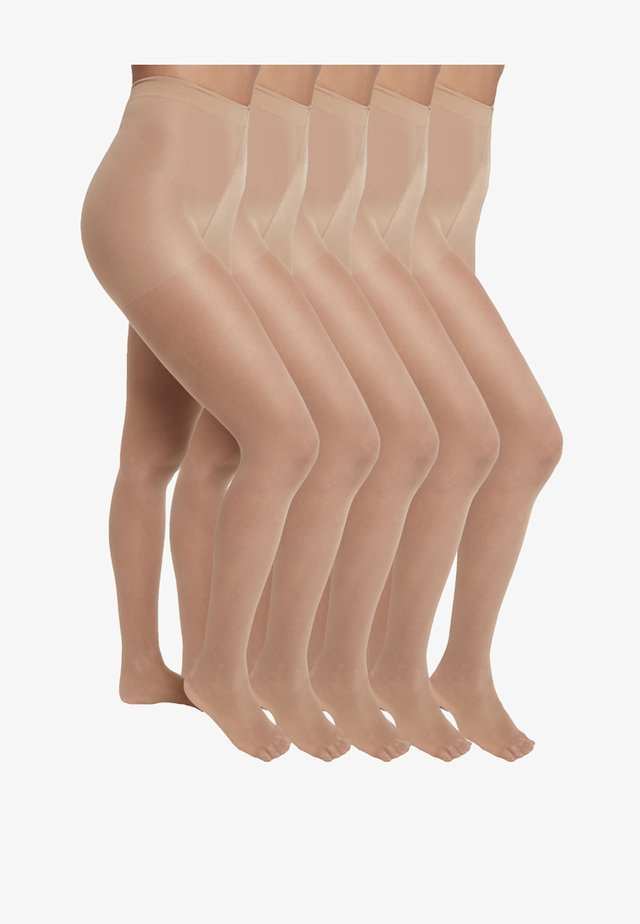 5 PACK - Collants - nude