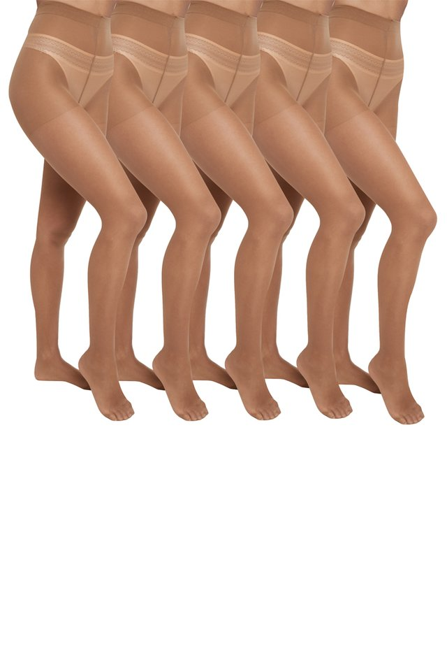 5 PACK - Collants - light brown