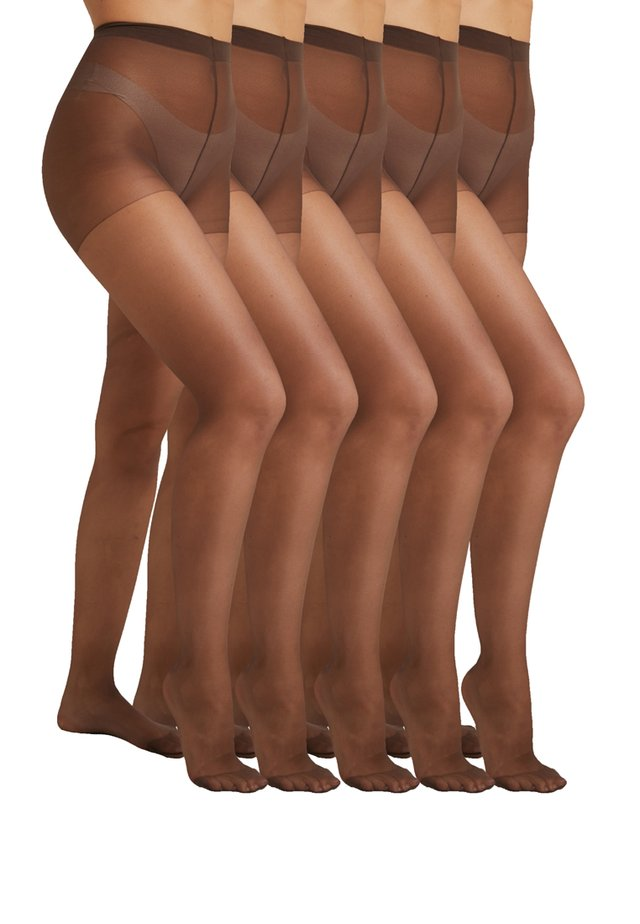 5 PACK - Strumpfhose - dark brown