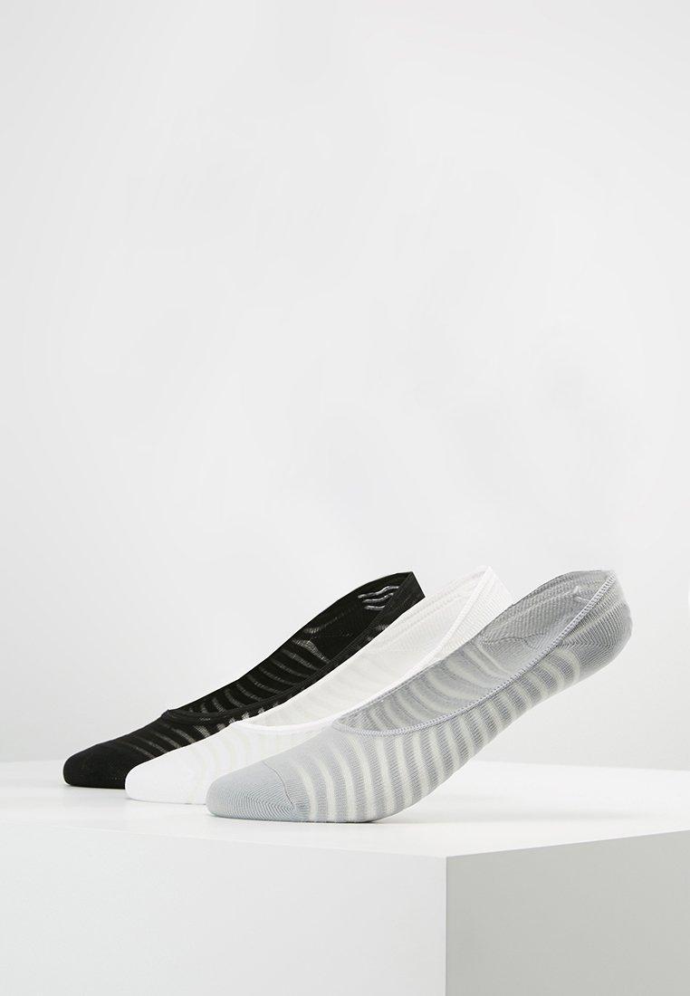 Anna Field - 3 PACK - Füßlinge - grey/white/black