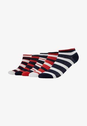 5 PACK - Sukat - white/dark blue/red