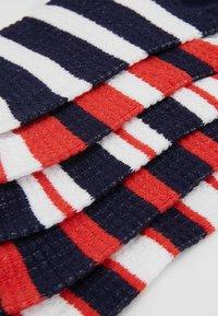 Anna Field - 5 PACK - Sokker - white/dark blue/red - 2