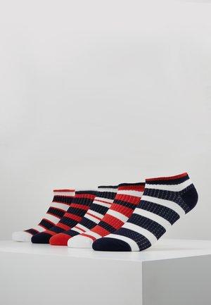 5 PACK - Sokker - white/dark blue/red