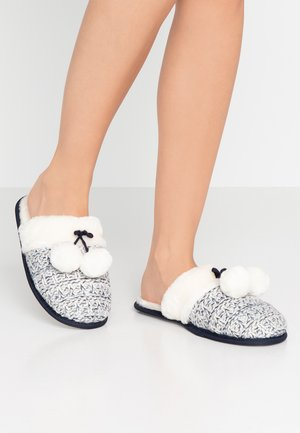Slippers - white/black