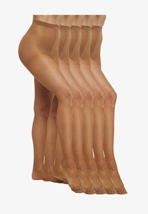 5 PACK - Strumpbyxor - light brown