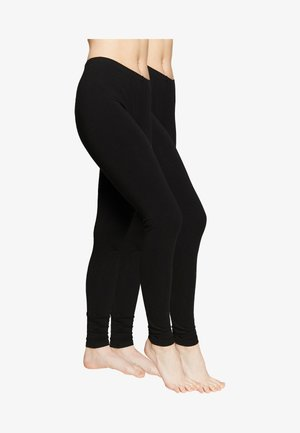 2 PACK - Leggings - Stockings - black