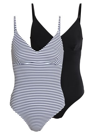 2 PACK - Maillot de bain - black/multicoloured