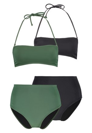 SET 2 PACK - Bikini - oliv/black