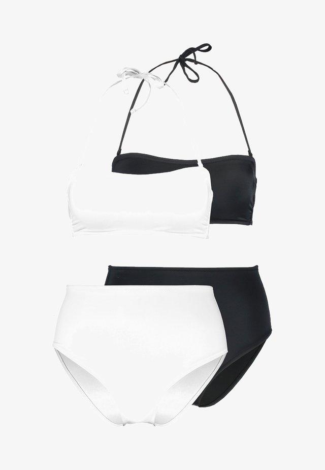 SET 2 PACK - Bikinit - black/white