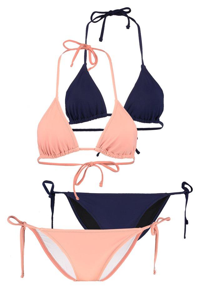 2 PACK - Bikinit - nude/blue