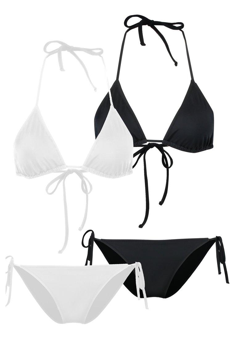 Anna Field - 2 PACK - Bikini - black/white