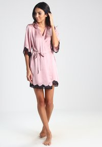 Anna Field - BRIDAL - Dressing gown - pink/black - 1