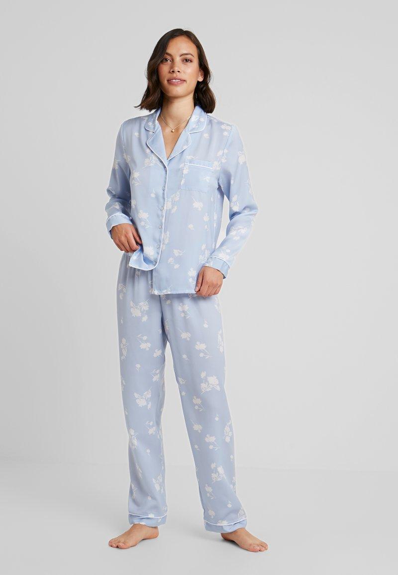 Anna Field - SET - Pyjama set - white/light blue