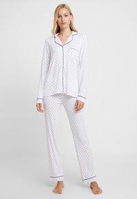 Anna Field - SET - Pyjamas - white/dark blue - 0