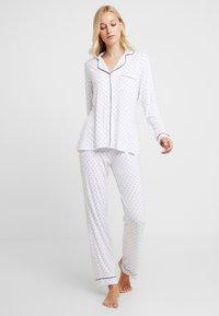 Anna Field - SET - Pyjamas - white/dark blue - 1