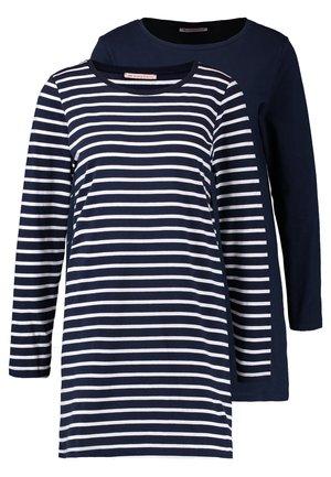 2 PACK - Noční košile - white/dark blue