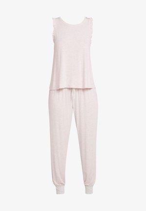 MELISSA LIGHT SET STRIPE - Pyjama set - white/ pink