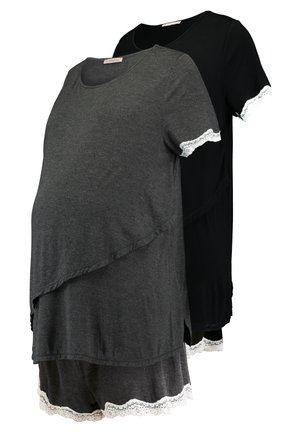 2 PACK - Pijama - grey/black