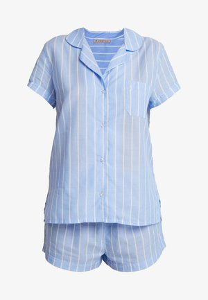 STRIPE SHORT SET - Pyjamas - blue