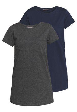 2 PACK - Nachthemd - dark grey/dark blue