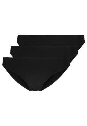 SEAMLESS MICROFIBER 3 PACK - Slip - black