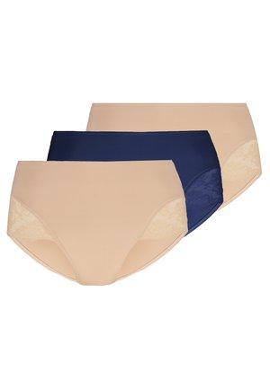 3 PACK - Briefs - dark blue/nude