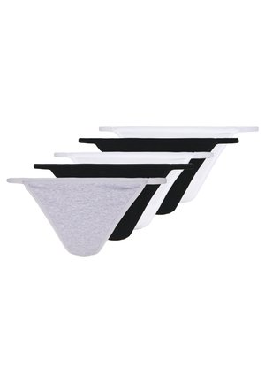 5 PACK - Thong - grey/white/black