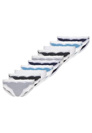 SYLVESTER BRAZILIANS 10 PACK - Kalhotky/slipy - black/blue/white