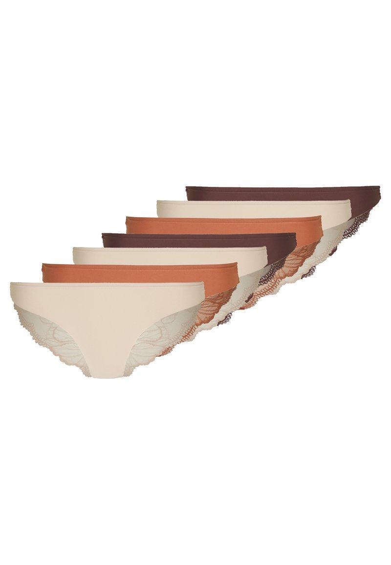 Anna Field - 7 PACK - Kalhotky/slipy - brown/tan/nude
