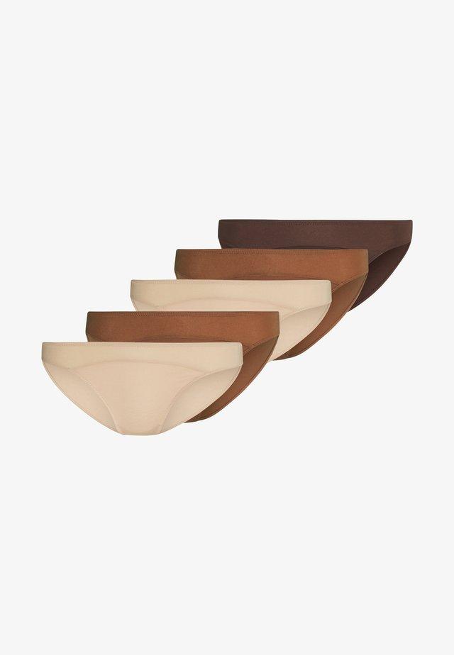 5 PACK - Figi - tan/brown/nude