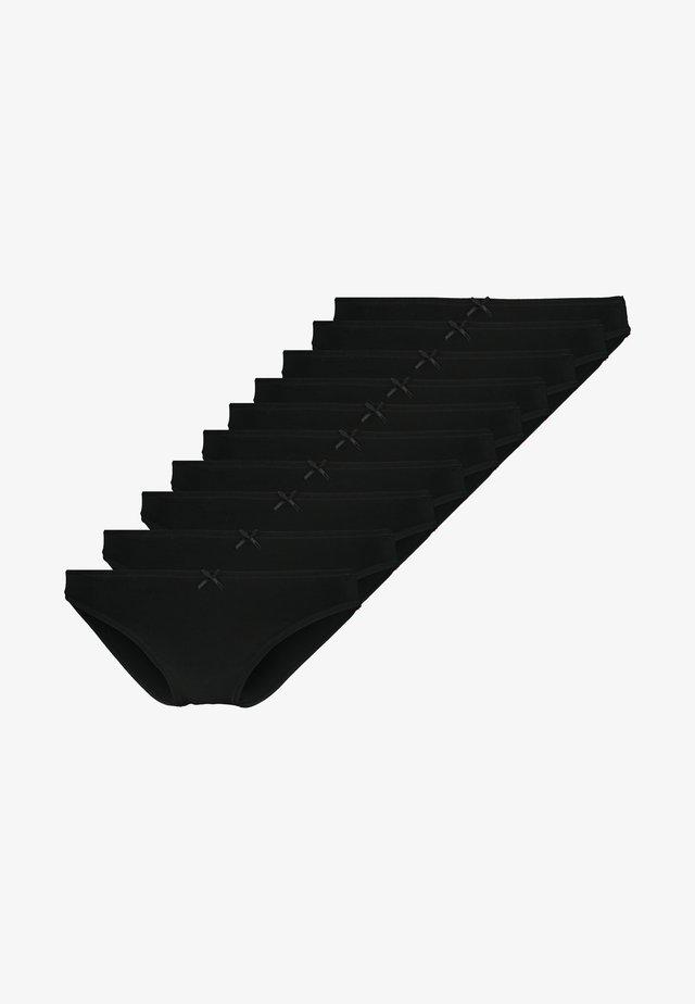 10 PACK - Underbukse - black