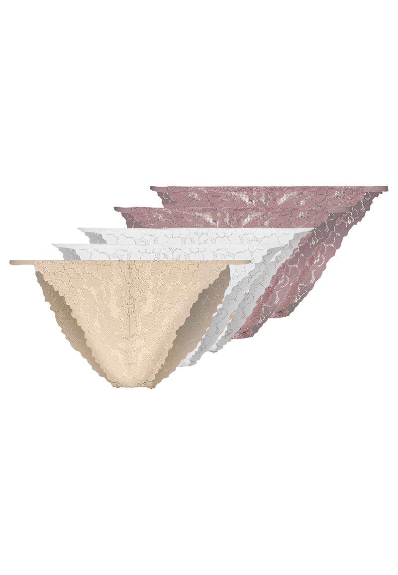 Anna Field - 5 PACK - Figi - pink/nude/white