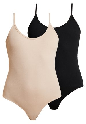 2 PACK - Body - black/nude