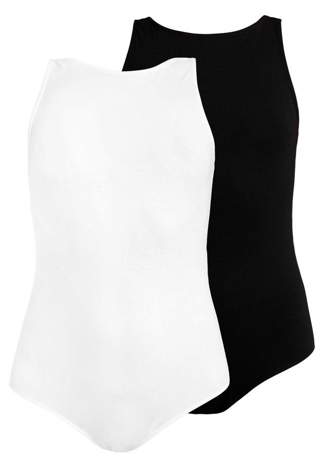 2 PACK - Body - white/black