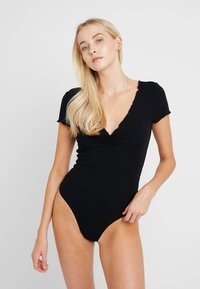 Anna Field - 2 PACK - Pijama - black/nude - 1