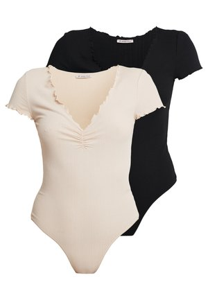2 PACK - Pyjama - black/nude