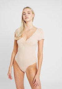 Anna Field - 2 PACK - Pijama - black/nude - 2