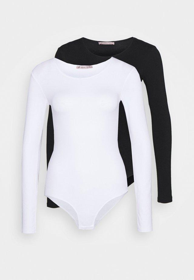 2 PACK - Body - black/white