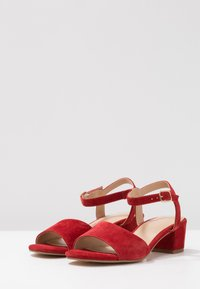 Anna Field Select - LEATHER SANDALS - Sandali - red - 4