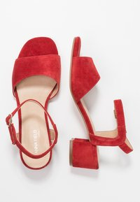 Anna Field Select - LEATHER SANDALS - Sandali - red - 3