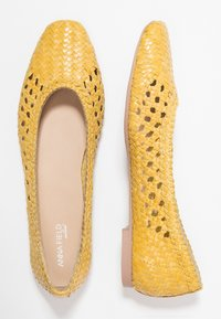 Anna Field Select - LEATHER BALLET PUMPS - Ballerine - yellow - 3
