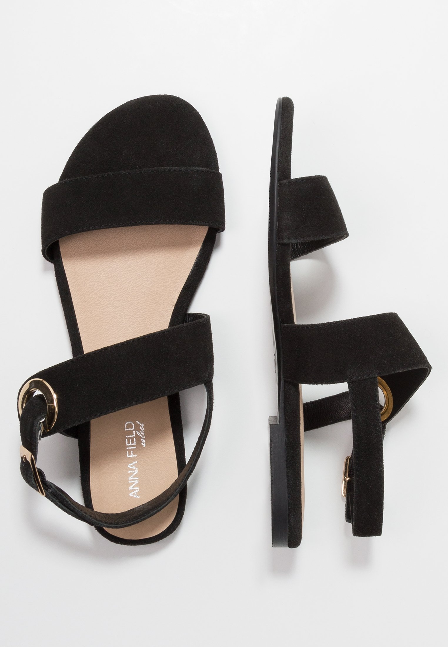Anna Field Select Leather Sandals - Sandales Black