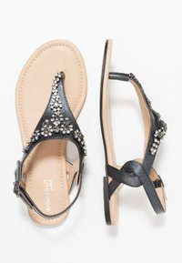 Anna Field Select - LEATHER T-BAR SANDALS - Infradito - gunmetall - 3